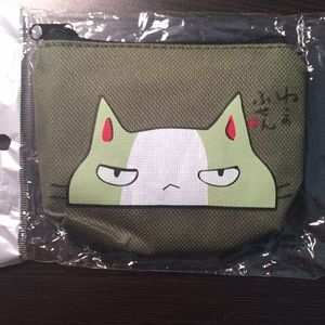 Handbags - Green kitty cat coin purse